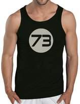 Touchlines Sheldons Best Men's Tank Top Number 73 blue Size:
