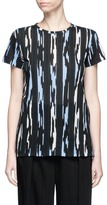 Proenza Schouler Custom stripe print cotton T-shirt