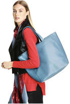 Joe Fresh Women's Fall Faux Leather Tote, Teal (Size O/S)