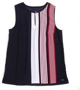 Tommy Hilfiger Striped Short Sleeve Blouse