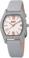 Burgi Women's Genuine Leather Strap Watch