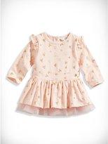 GUESS Newborn Girl Glitter Heart Dress (0-9M)