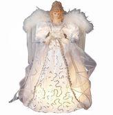 Kurt Adler 10-Light 14 White and Silver Angel Tree Topper
