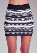 Bebe Tribal Print Skirt