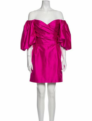 Rasario Silk Mini Dress Pink