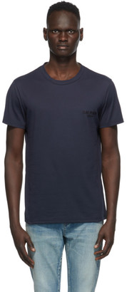 Balmain Navy Round Neck T-Shirt