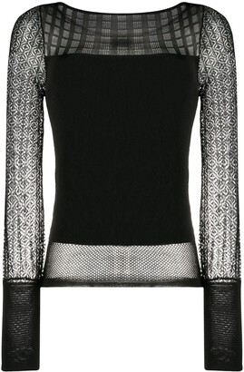 Roland Mouret Drum knitted top