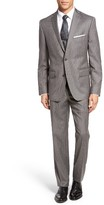 JB Britches Men's Classic Fit Check Wool Suit
