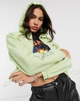 Bershka windbreaker jacket in lime
