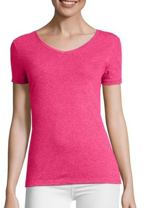 Hanes Women's FreshIQ X-Temp Tri-Blend Performance V-Neck Tee