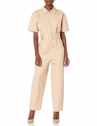 Finders Keepers findersKEEPERS Women's Heloise Utility Style Short Sleeve Jumpsuit