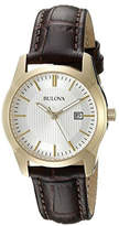 Bulova Women's Quartz Leather Strap Watch, 30mm