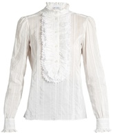 Bella Freud Brian Jones cotton and silk-blend blouse