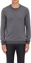 Zanone Men's Houndstooth-Front Virgin Wool-Blend Sweater-GREY