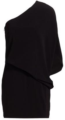 Halston Kai One-Shoulder Mini Dress