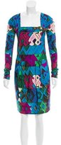 Roberto Cavalli Abstract Sheath Dress