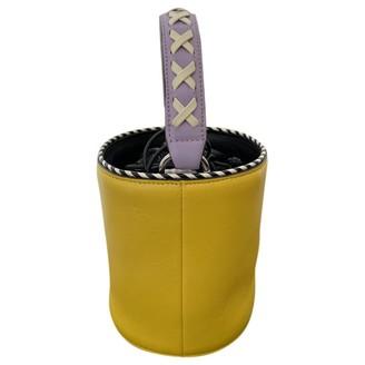 Les Petits Joueurs Yellow Leather Handbags