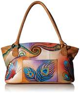 Anuschka Wide Tote PBF, Peacock Butterfly, One Size