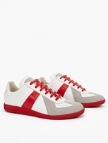 Maison Margiela Contrasting Leather and Suede Replica Sneakers