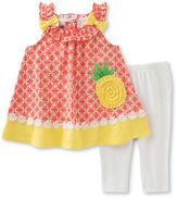 Kids Headquarters Baby Girls Pineapple Tank and Leggings Set