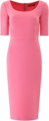 Dolce & Gabbana SHEATH MIDI DRESS 42 Pink
