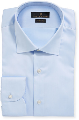 Ike Behar Men's Marcus Twill Barrel-Cuff Dress Shirt, Light Blue