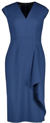 Escada Dehsias Stretch-Wool Draped Sheath Dress