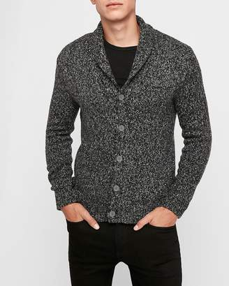 Express Marled Button Front Cardigan