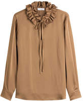 Sonia Rykiel Crepe Blouse with Ruffles