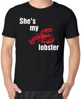 DH&GF She's My Lobster For Life Guy Man Short Sleeve Graphic Tee Shirt
