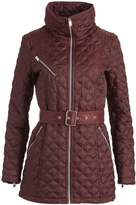 Andrew Marc Burgundy Cassidy Quilted Coat