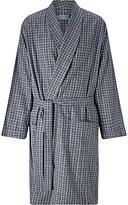 John Lewis Ealing Check Brushed Cotton Robe, Grey