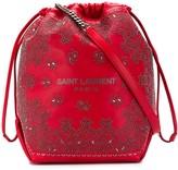Saint Laurent embellished bandana Teddy bucket bag