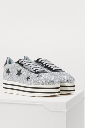 Chiara Ferragni Suite platform sneakers with stars