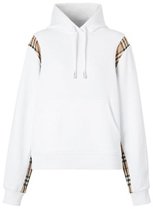 Burberry Fairhall Check Panels Hoodie