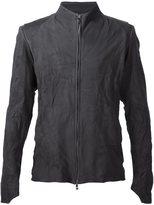 Devoa leather zip jacket