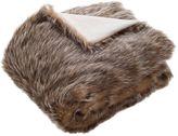 Safavieh Dusty Faux Fur Throw Blanket in Grey