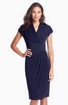 Ivy & Blu Ruched Faux Wrap Dress