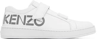Kenzo White Tennix Velcro Sneakers