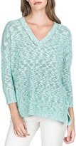 Lilla P V-Neck Slub Chic Sweater, Bermuda