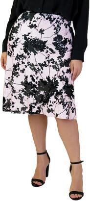 Marée Pour Toi Floral Burnout Skirt