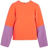 Roksanda Darvel neon two-tone crepe sweatshirt