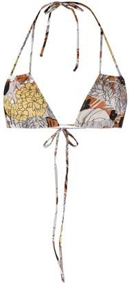 Roseanna Clea Botanical print bikini top
