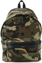 Saint Laurent 'classic hunting' camouflage backpack - men - Cotton/Leather - One Size