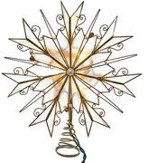 Kurt Adler Pre-Lit Scrollwork Snowflake Tree Topper