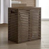 Crate & Barrel Dixon Bamboo Hamper with Liner