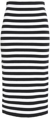 Ronny Kobo Striped Stretch-knit Midi Skirt