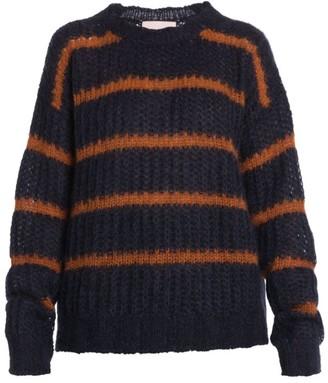 Plan C Stripe Crewneck Sweater