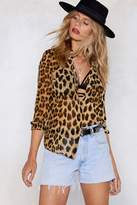Nasty Gal In Your Wildest Dreams Leopard Shirt