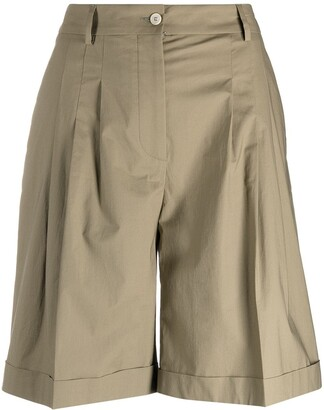 Piazza Sempione high-waisted Bermuda shorts